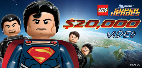 LEGO Superman and villains pose dramatically